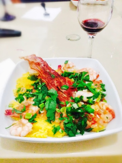 Fresh local shrimp & grits.